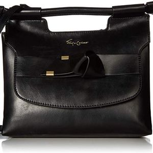 New Foley & Corinna Black Satchel Crossbody